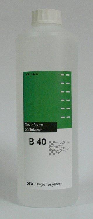 Dezinfekce postřiková na plochy a nástroje B40 náhradní náplň 0, 5 litru