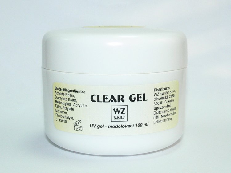 UV gel modelovací čirý Clear gel 100 ml - UV gely UV gely WZ NAILS