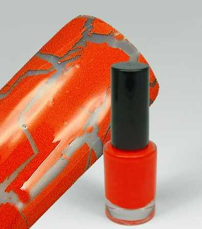 WZ nails Cracle Polish - praskající lak crazy orange 5 ml