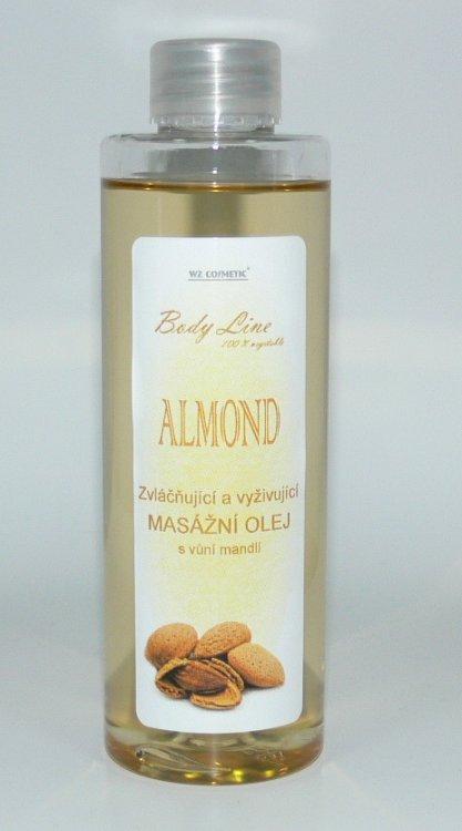 Masážní olej s vůní mandlí 200 ml - Péče o ruce Kosmetika WZ cosmetic Masážní oleje