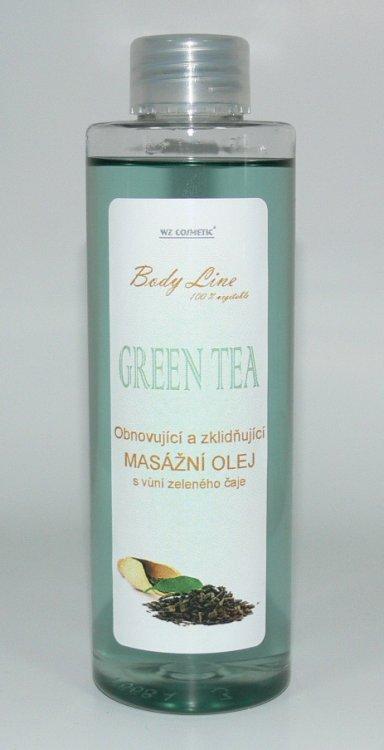 Masážní olej s vůní zeleného čaje GREEN TEA 200 ml - Péče o ruce Kosmetika WZ cosmetic Masážní oleje