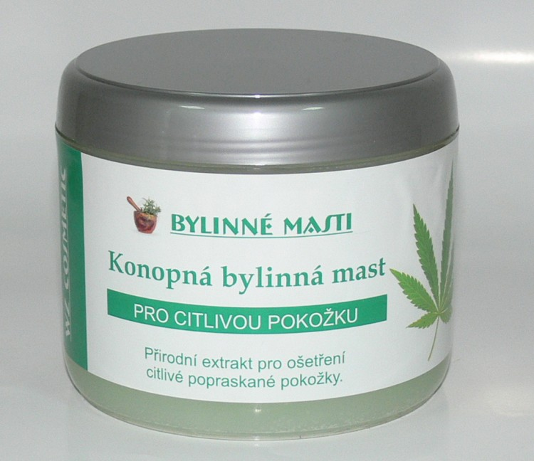 Bylinná mast s konopným olejem 500 ml - Kosmetika WZ cosmetic Bylinné masti a vazelíny
