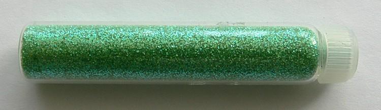 Glitterový prášek na zdobení nehtů zelený