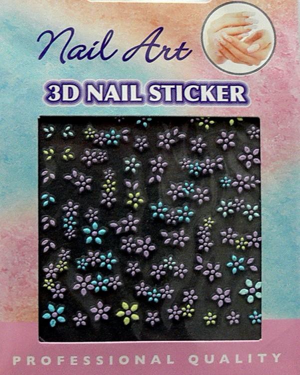 Nálepky 3D na nehty barevné 24890 - Péče o ruce Zdobící nálepky a obtisky na nehty Zdobící nálepky na nehty 3D colours - samolepící