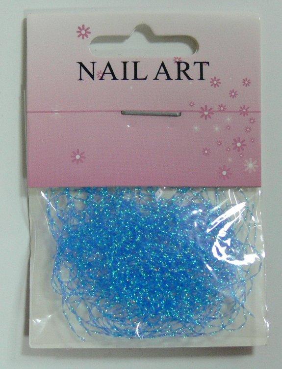 Zdobící nitě modré - Péče o ruce Nail Art, zdobící materiály Zdobení nehtů - ostatní