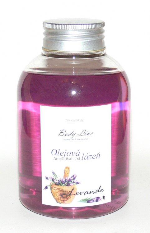 Olejová lázeň s vůní levandule Levande 500 ml - Kosmetika WZ cosmetic Koupelové soli a olejové lázně