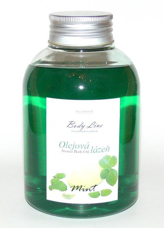 Olejová lázeň s vůní máty Mint a Eukalypt 500 ml - Péče o ruce Kosmetika WZ cosmetic Koupelové soli a olejové lázně