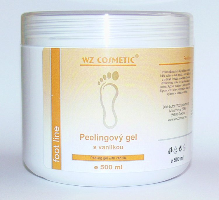 Peelingový gel s vanilkou 500 ml - Kosmetika WZ cosmetic Péče o nohy