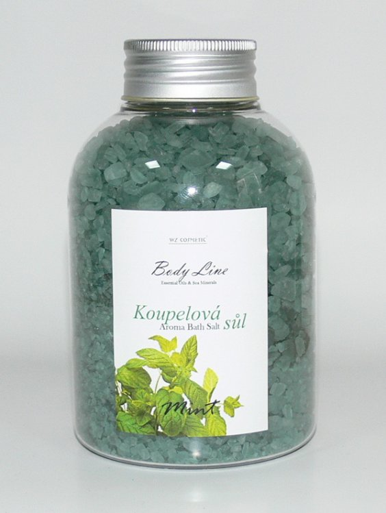 Koupelová sůl vůní máty Mint a Eukalypt 600 g - Kosmetika WZ cosmetic Koupelové soli a olejové lázně