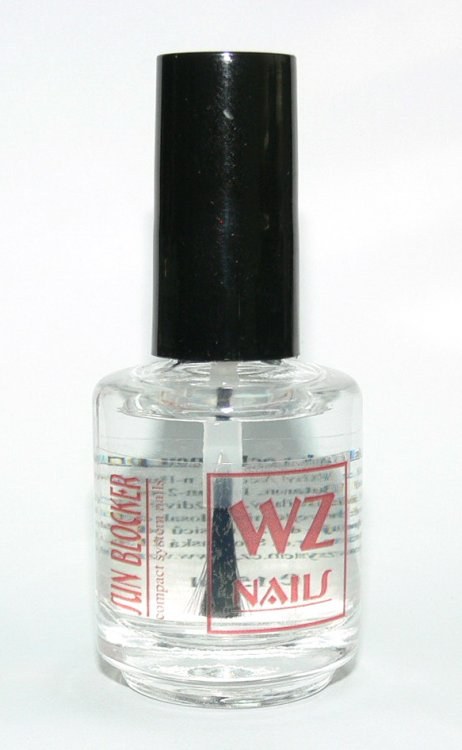 Vrchní lak s ochranou proti UV záření Sun Blocker 15 ml - Přípravky k péči o nehty a k manikúře Přípravky k péči o nehty a k manikúře WZ nails